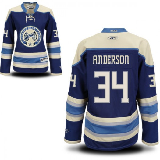 Josh Anderson Columbus Blue Jackets Women's Reebok Authentic Royal Blue Alternate Jersey