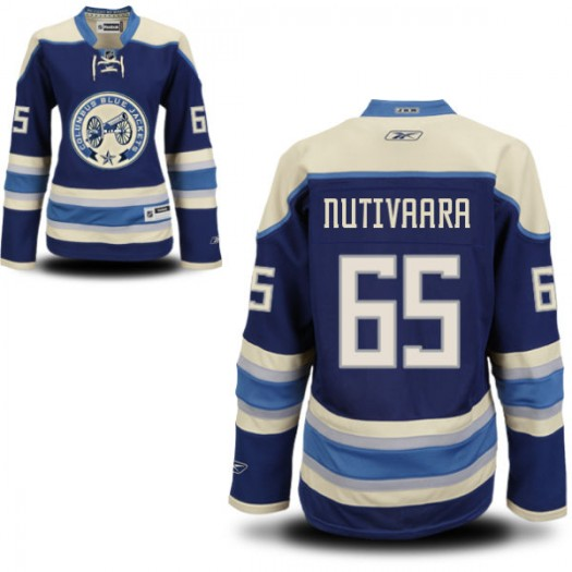 Markus Nutivaara Columbus Blue Jackets Women's Reebok Authentic Royal Blue Alternate Jersey