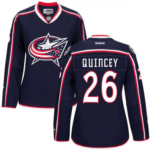 Kyle Quincey Columbus Blue Jackets Women's Authentic Navy Home Jersey