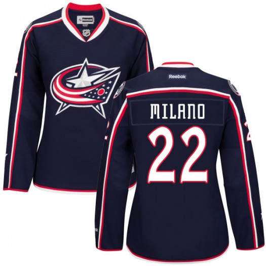 Sonny Milano Columbus Blue Jackets Women's Authentic Navy Home Jersey
