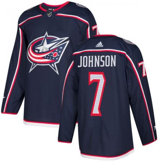 Jack Johnson Columbus Blue Jackets Men's Adidas Authentic Navy Jersey