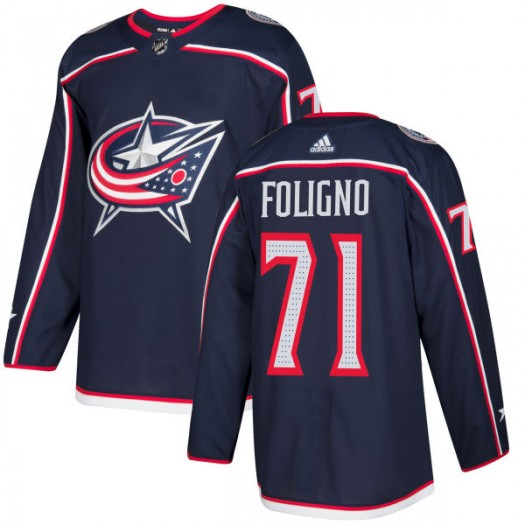 Nick Foligno Columbus Blue Jackets Men's Adidas Authentic Navy Jersey