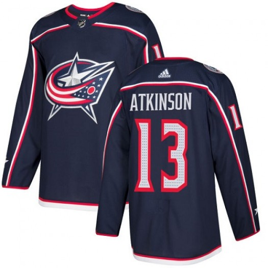Cam Atkinson Columbus Blue Jackets Men's Adidas Premier Navy Blue Home Jersey
