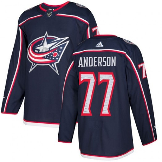 Josh Anderson Columbus Blue Jackets Men's Adidas Premier Navy Blue Home Jersey