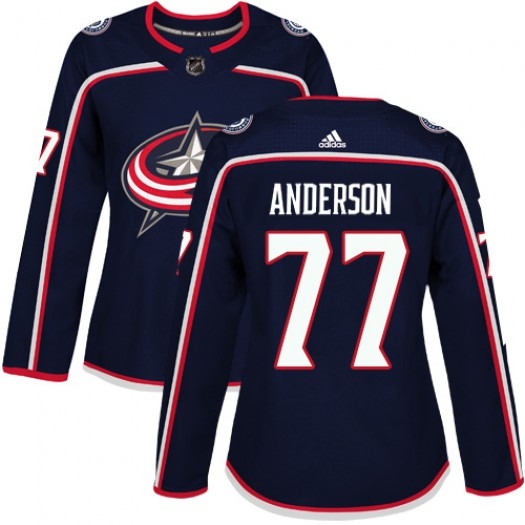 Josh Anderson Columbus Blue Jackets Women's Adidas Authentic Navy Blue Home Jersey