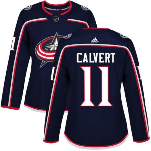 Matt Calvert Columbus Blue Jackets Women's Adidas Authentic Navy Blue Home Jersey