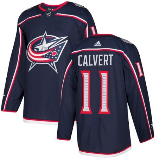 Matt Calvert Columbus Blue Jackets Youth Adidas Premier Navy Blue Home Jersey