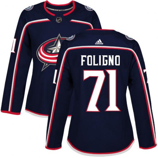 Nick Foligno Columbus Blue Jackets Women's Adidas Authentic Navy Blue Home Jersey