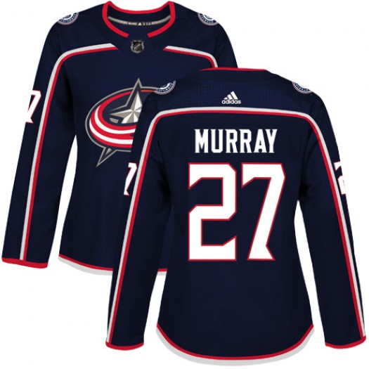 Ryan Murray Columbus Blue Jackets Women's Adidas Authentic Navy Blue Home Jersey