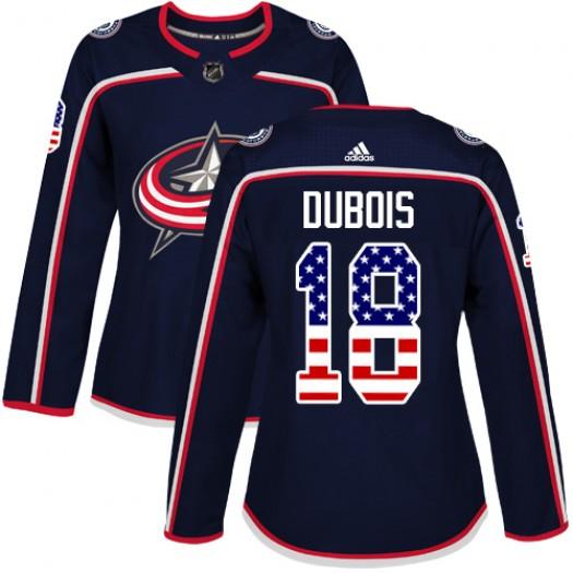 Pierre-Luc Dubois Columbus Blue Jackets Women's Adidas Authentic Navy Blue USA Flag Fashion Jersey