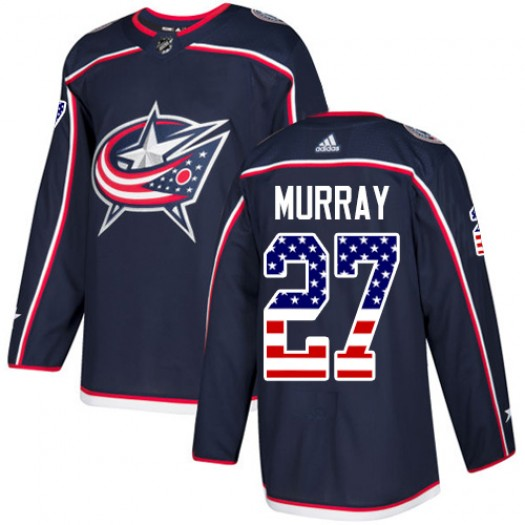 Ryan Murray Columbus Blue Jackets Youth Adidas Authentic Navy Blue USA Flag Fashion Jersey