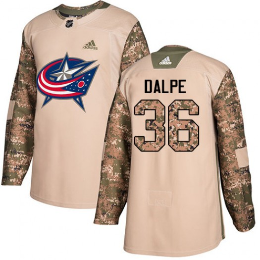 Zac Dalpe Columbus Blue Jackets Youth Adidas Authentic Camo Veterans Day Practice Jersey
